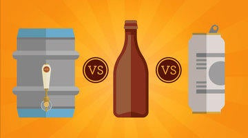 Check out this blog post to learn the difference between drinking beer out of a keg, bottler or can