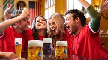 Cheer on your favorite team at the best beer hall in Las Vegas