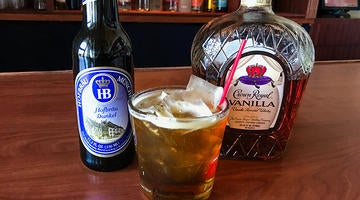 Crown Royal Vanilla is the perfect match for our rich Hofbrau Dunkel brew in this delicious cocktail you can only find at Hofbrauhaus Las Vegas